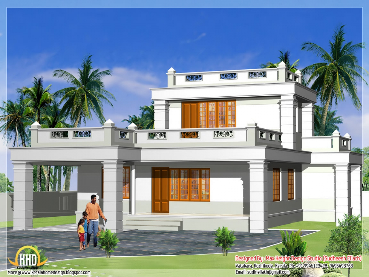 Cottage front elevation house designs small house for Small frontage house designs