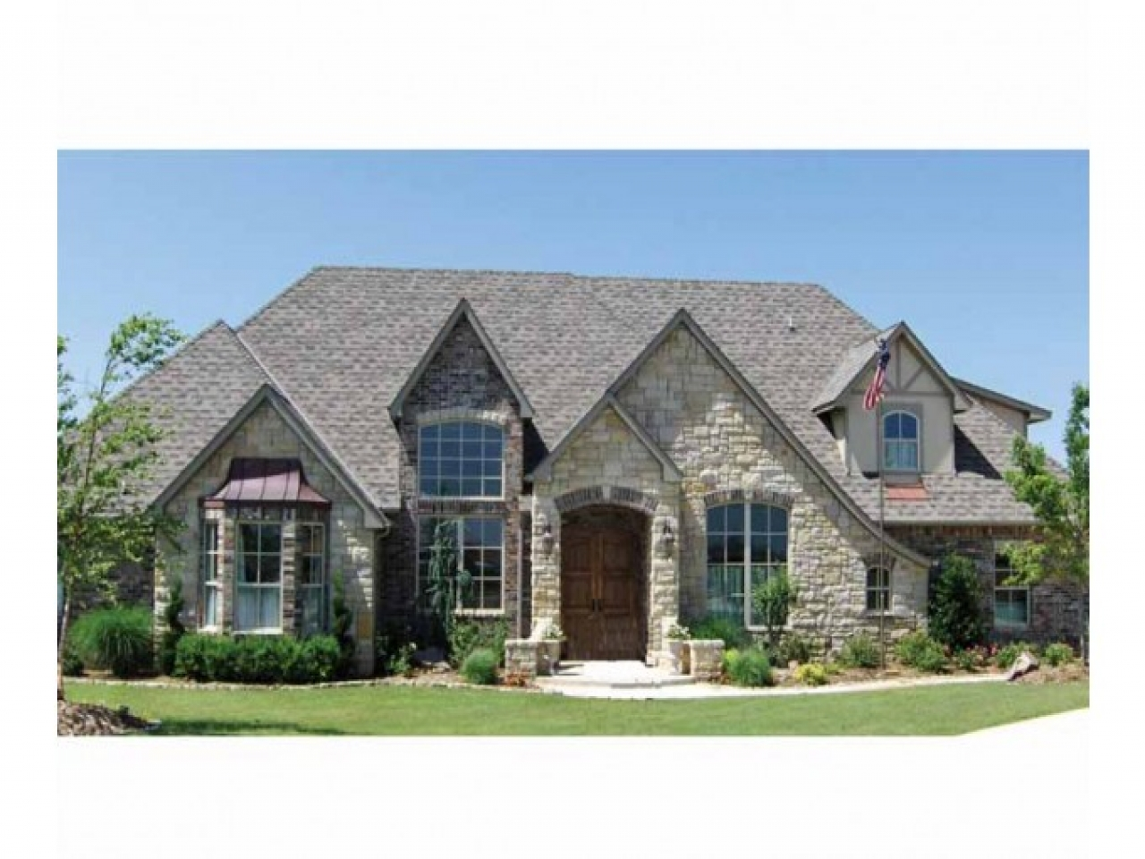 Country house plans with stone country house plans with for One story country house plans with porches