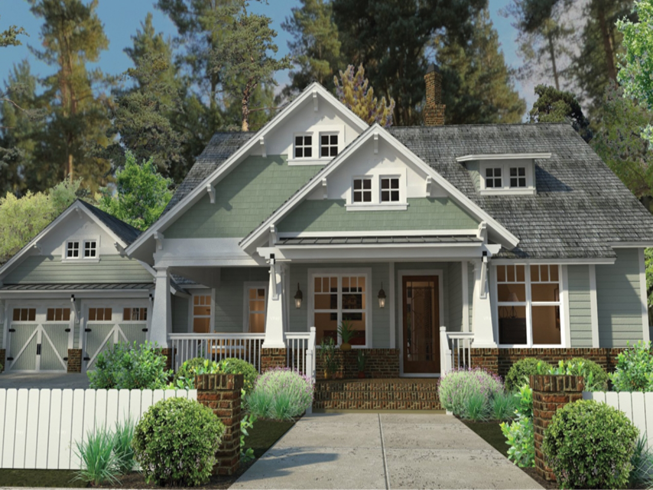 Craftsman style house plans with porches craftsman style for Craftsman style flooring