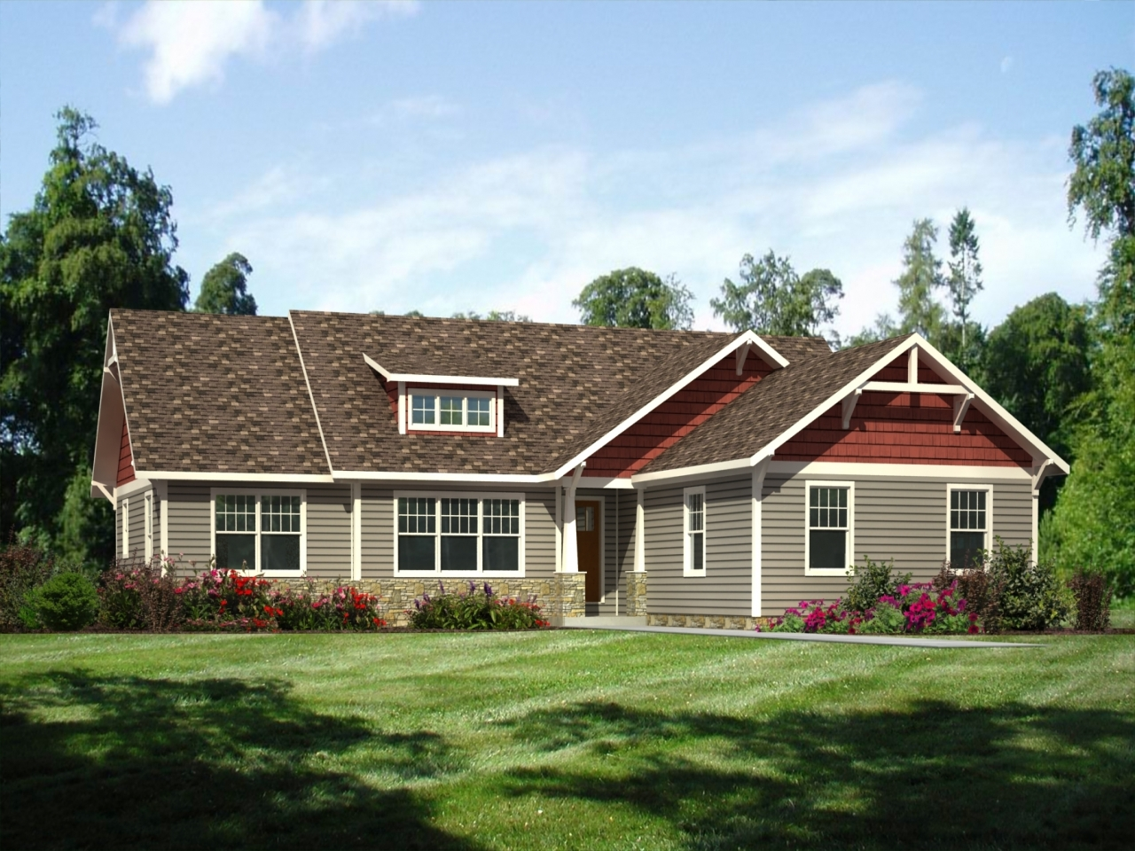 House colors for ranch style homes exterior house paint for Ranch style home builders