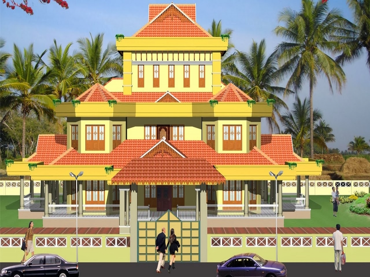 Kerala traditional house plans traditional southern house for Traditional southern house plans