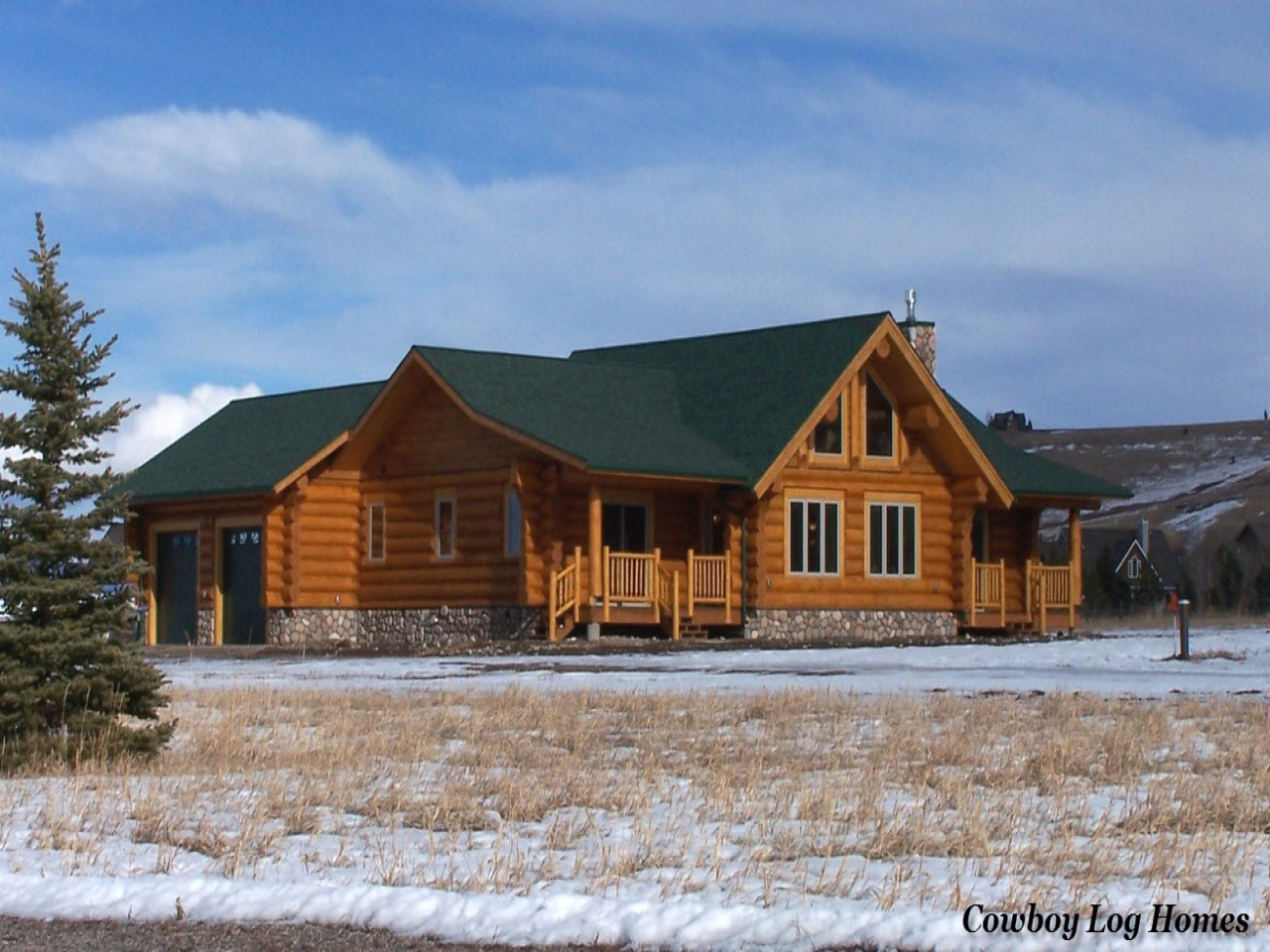 Log Home Plans With Attached Garage Log Home Plans With