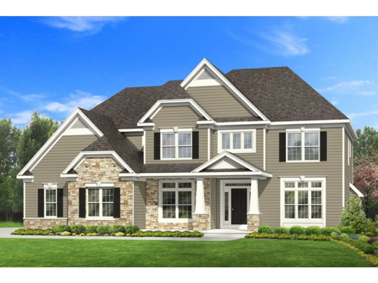 Long lots blueprints 3 bedroom 1 story 2 story 4 bedroom for One story two bedroom house plans