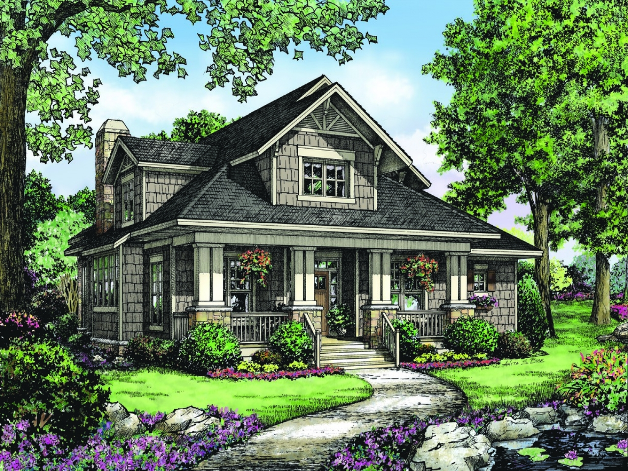 Best-Selling 1-Story Home Plans, Updated 4th Edition: Over Two story house plans with pictures