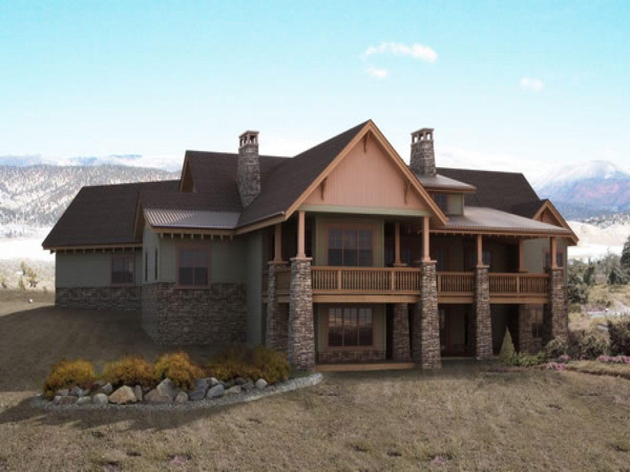 Mountain home architects builders mountain home plans with for Mountain house plans with a view