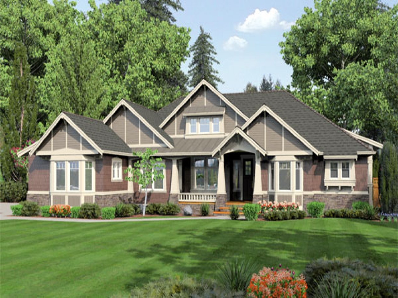 One story ranch house plans simple one story houses one for Simple one story ranch house plans
