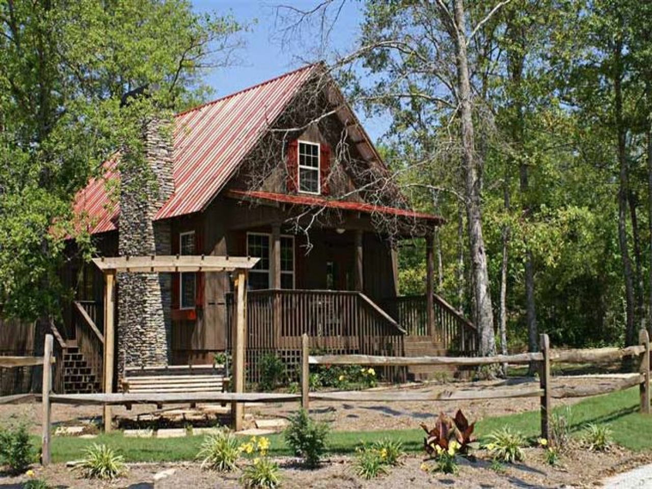 Small cabin house plans with loft small house plans rustic for Unique log cabin designs