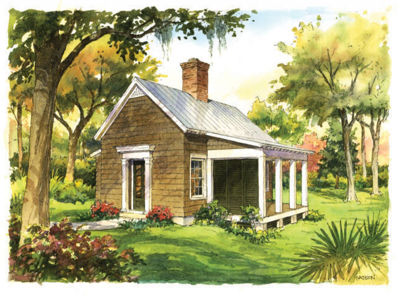 Southern living cottage garden cottage style gardens for Small cottage living