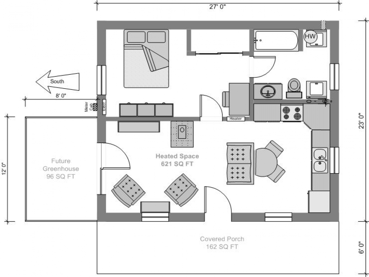 Tiny house floor plans and designs small tiny house plans for Micro compact home floor plan