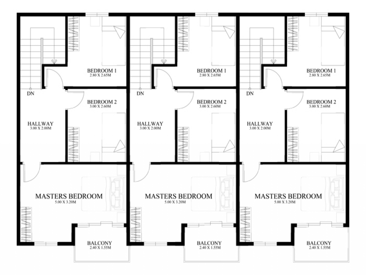 3 Story Floor Plans: Townhouse Floor Plan Designs 3-Story Townhouse Floor Plans