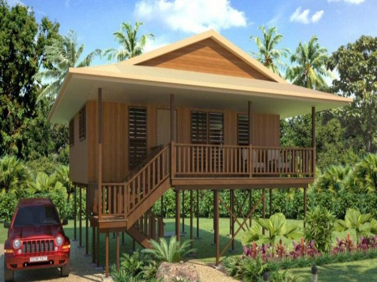 Wooden bungalow house design bungalow house design plans for Bungalow houses designs philippines images