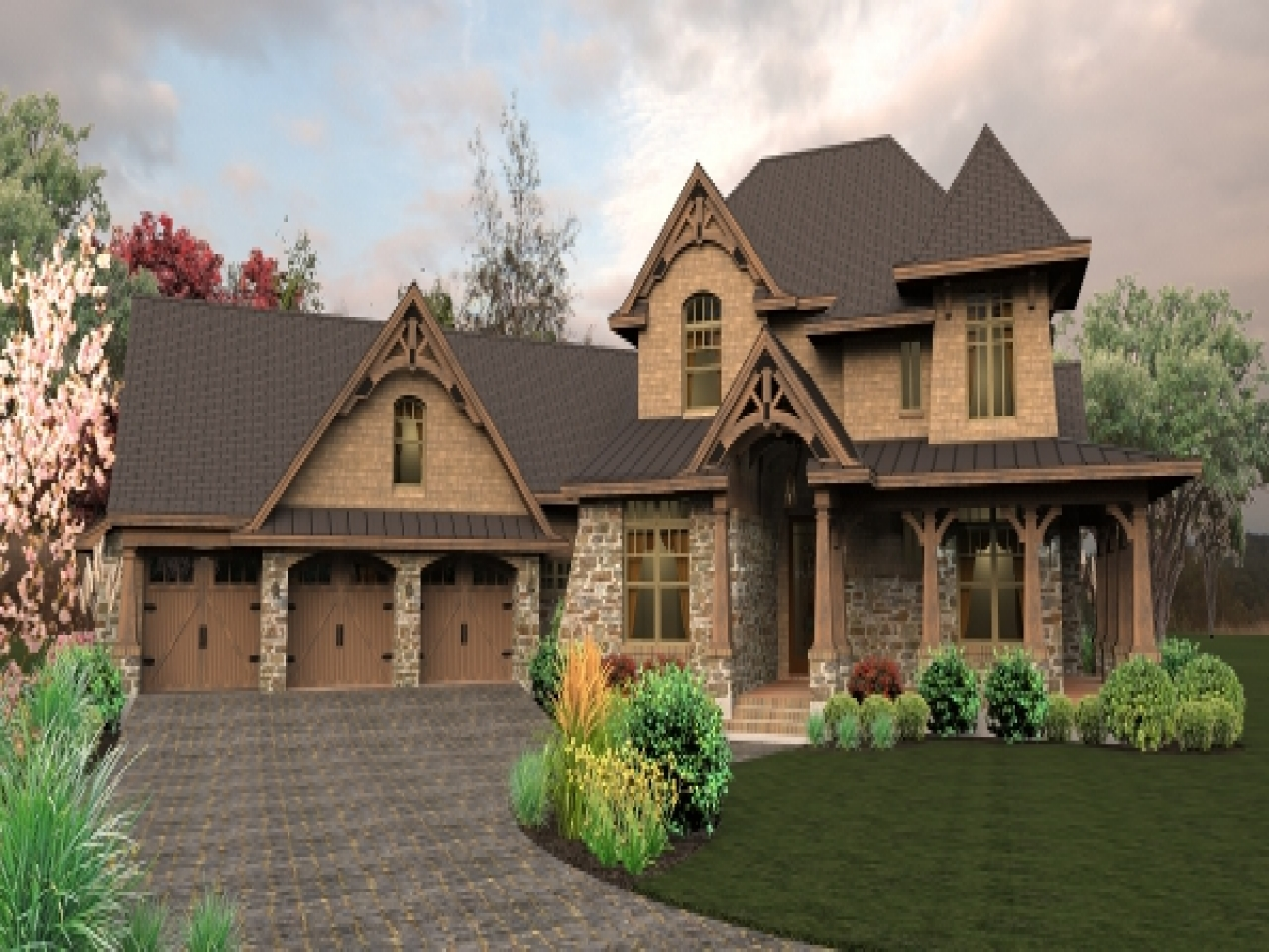 1 5 Story Craftsman House Plans 2 Story Craftsman House