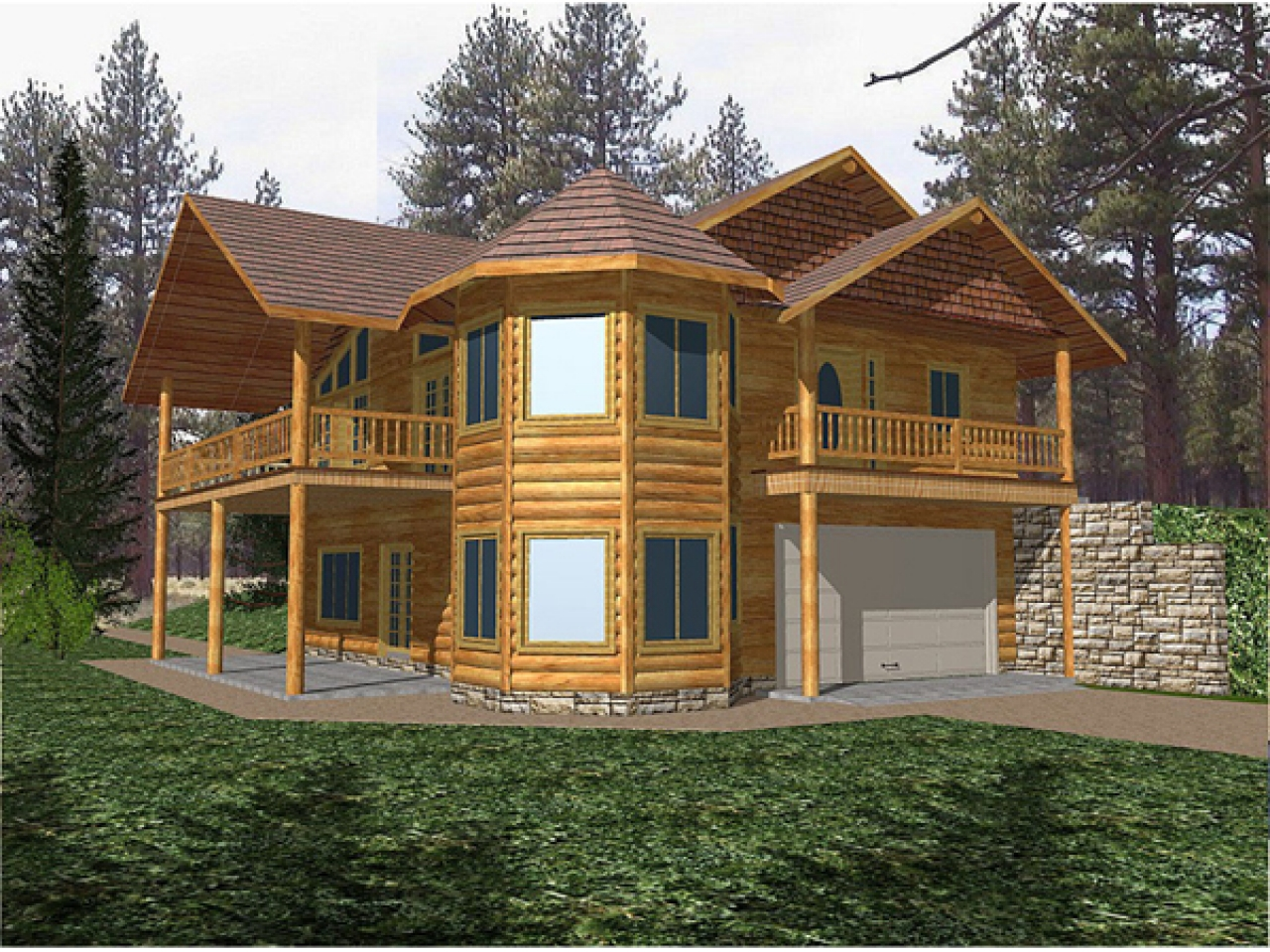 1866 two story log cabin 2 story log home plans two for Small 2 story cottage plans