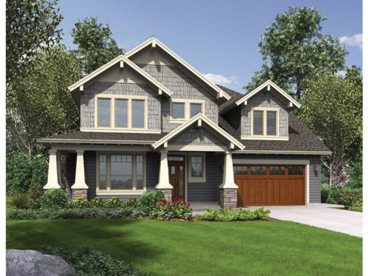 3 bedroom house designs 3 bedroom craftsman house plans for Craftsman style bed plans