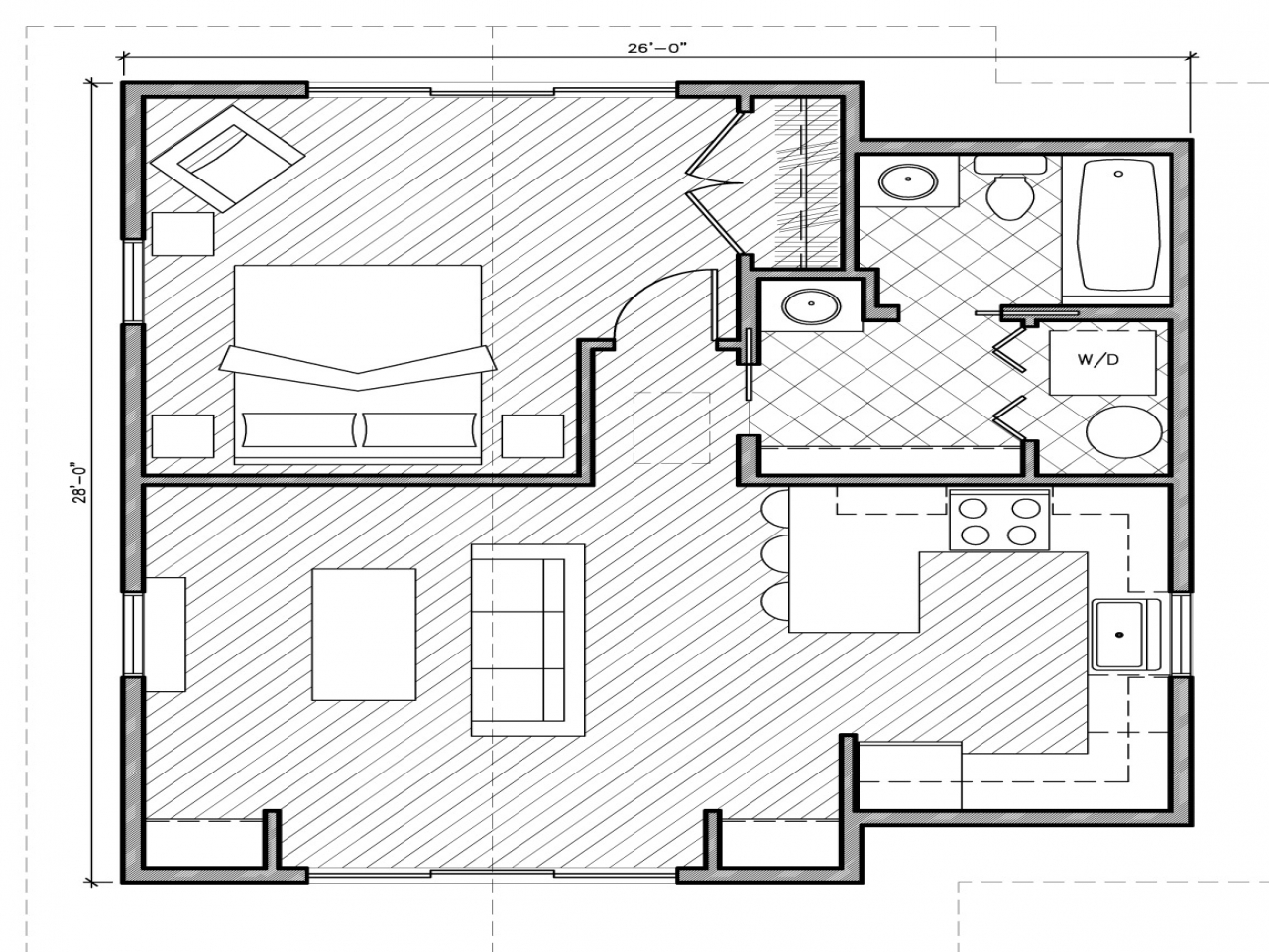 Cottages under 1000 square feet 1000 square feet house for Cottage house plans under 1000 sq ft