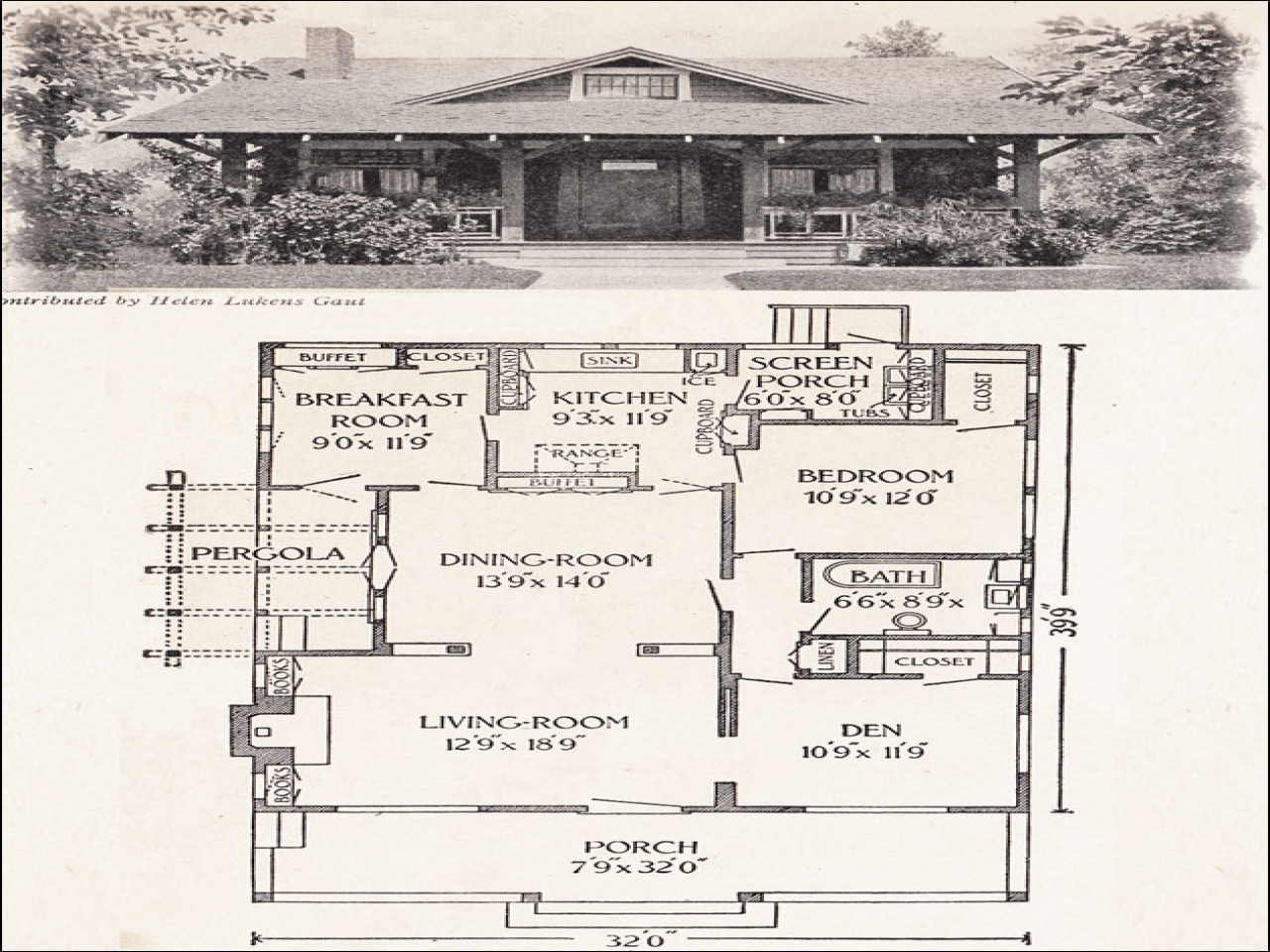 Homes for under 1200 sq ft floor plans bungalow house Old ranch house plans