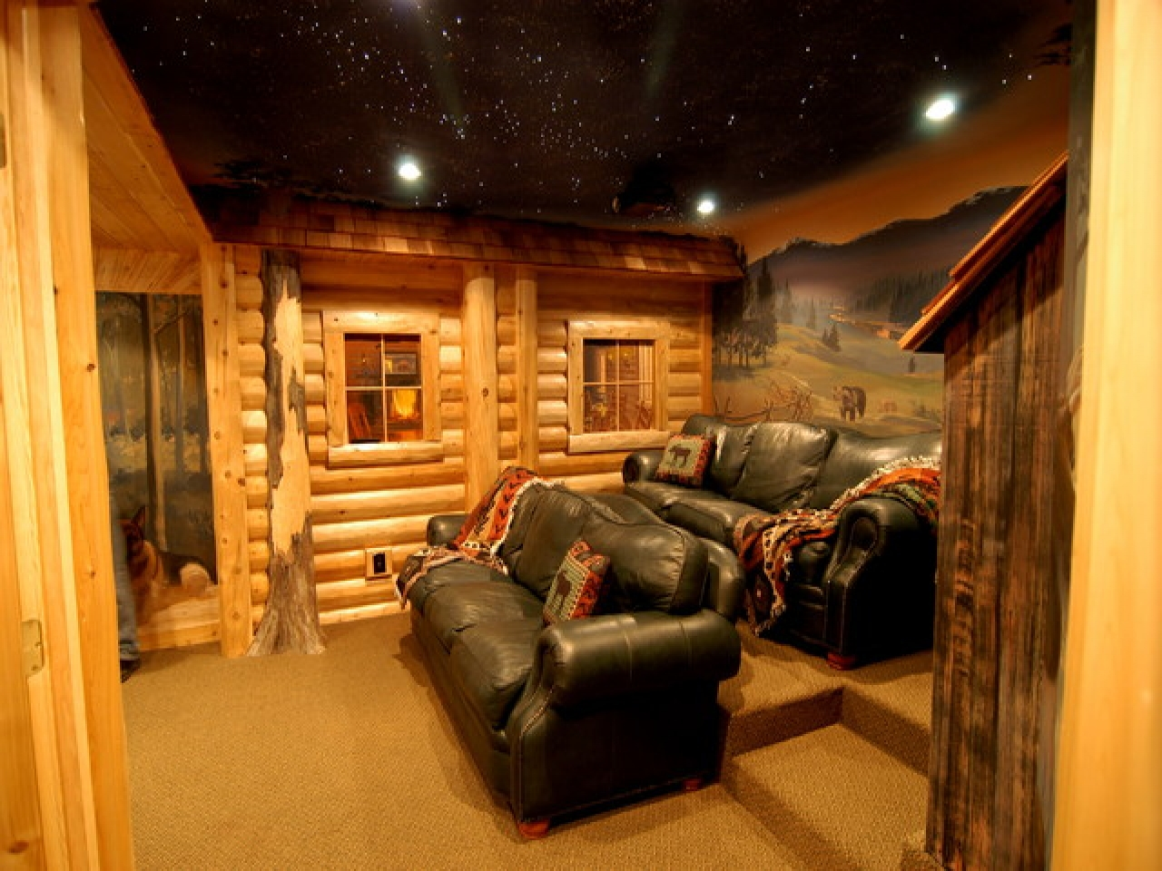 Log cabin basement ideas log cabin basement remodel log for Log cabin basement ideas