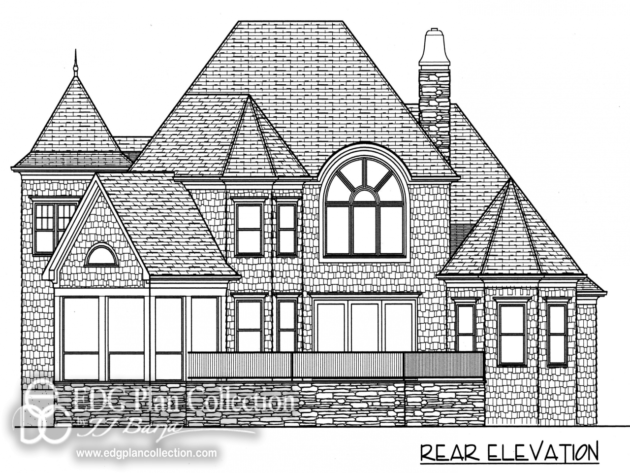 Porch and open terrace in this nantucket style house plan for Open house plans with porches