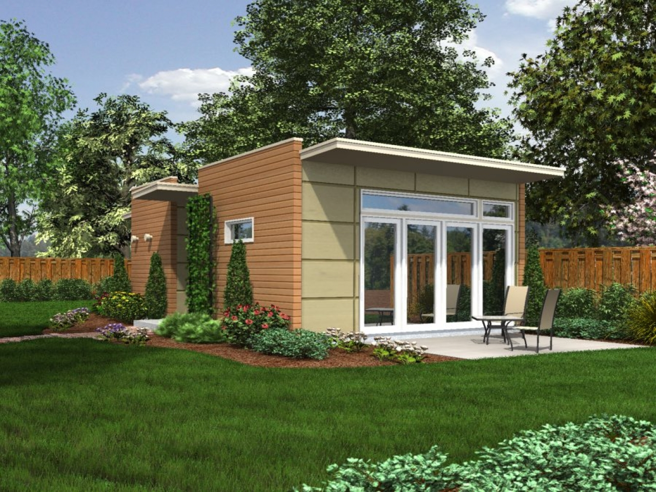 Prefab backyard cottage backyard cottage small houses for Prefab garden house