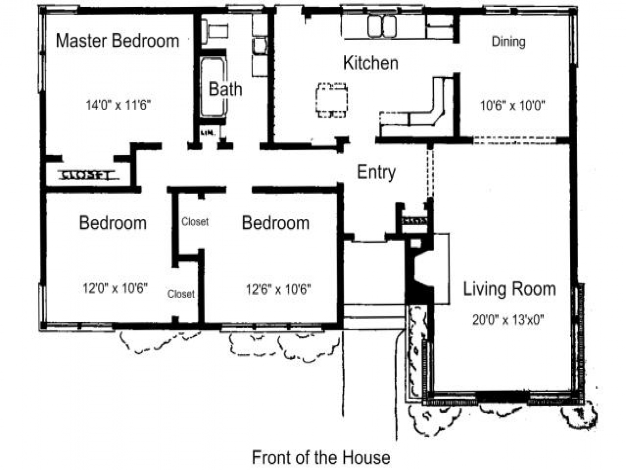 Simple 3 Bedroom House Plans 3 Bedroom House Plans Free ...