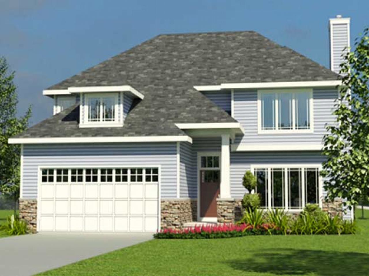 Small 2 story cottage house plans 1 1 2 story cottage for Small two story house