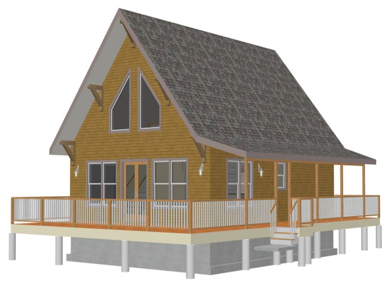 Small cabin house plans with loft small rustic house plans for Very small cottages