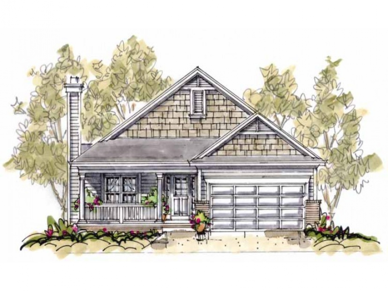 Small cottage house plans with porches cozy cottage house for Cozy cottage home designs
