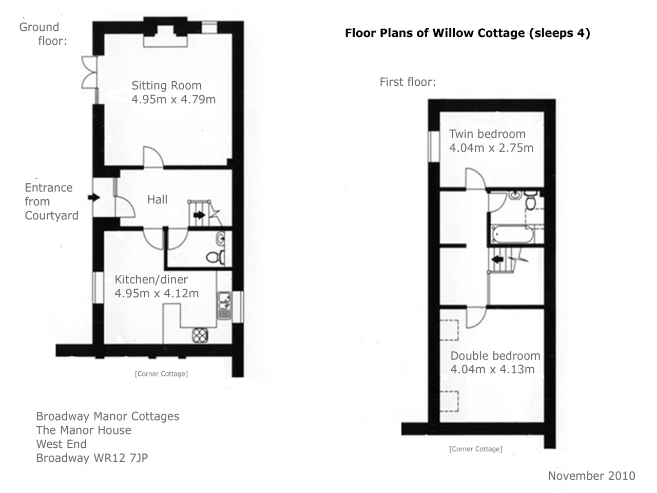 Willow cottage dollhouse the willows cottage floor plans for Floor plan cottage