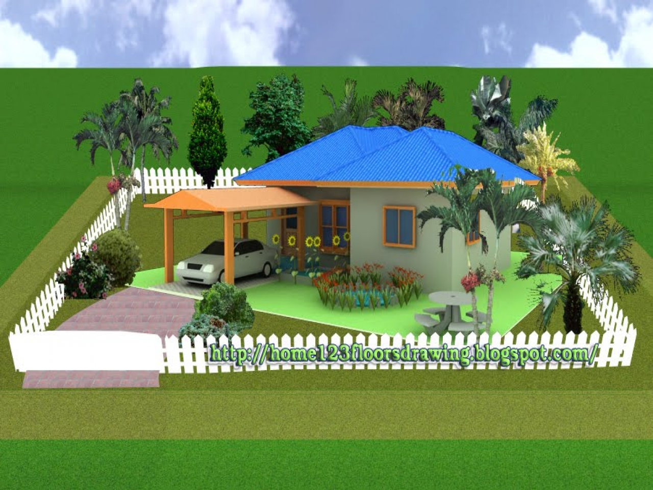 Beautiful Small House Plans 3d Tiny Romantic Cottage House