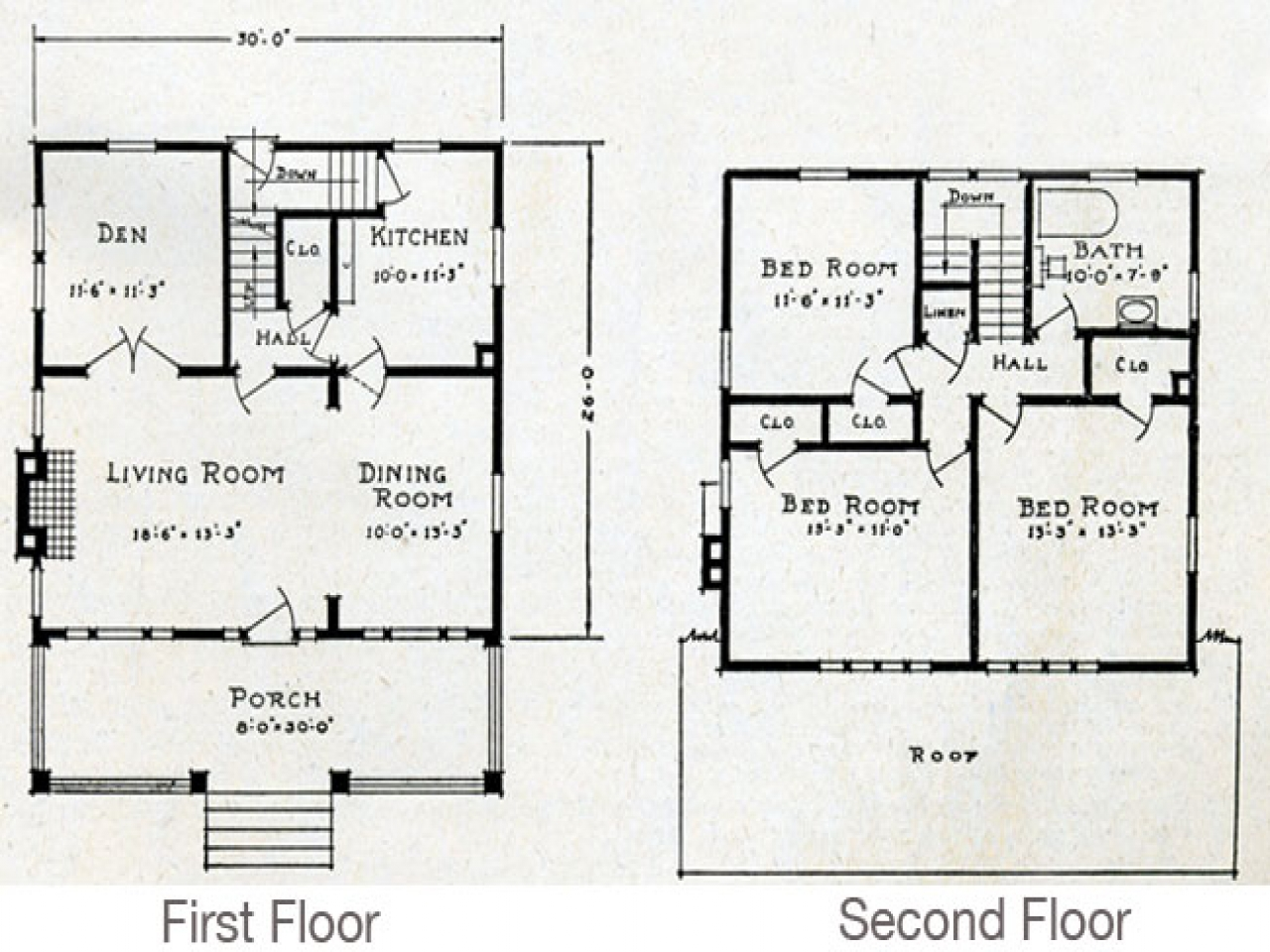 Bungalow house floor plans with dormers bungalow cottage for Floor plans for cottages and bungalows