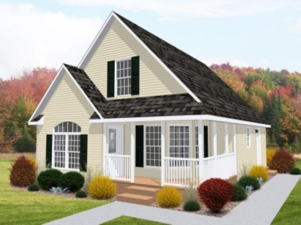 Bungalow style modular homes sale modular cottage homes for Bungalow style modular homes