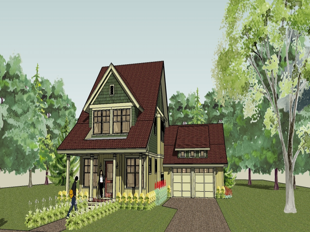 Country cottage house plans bungalow cottage house plans for Cottage house kits