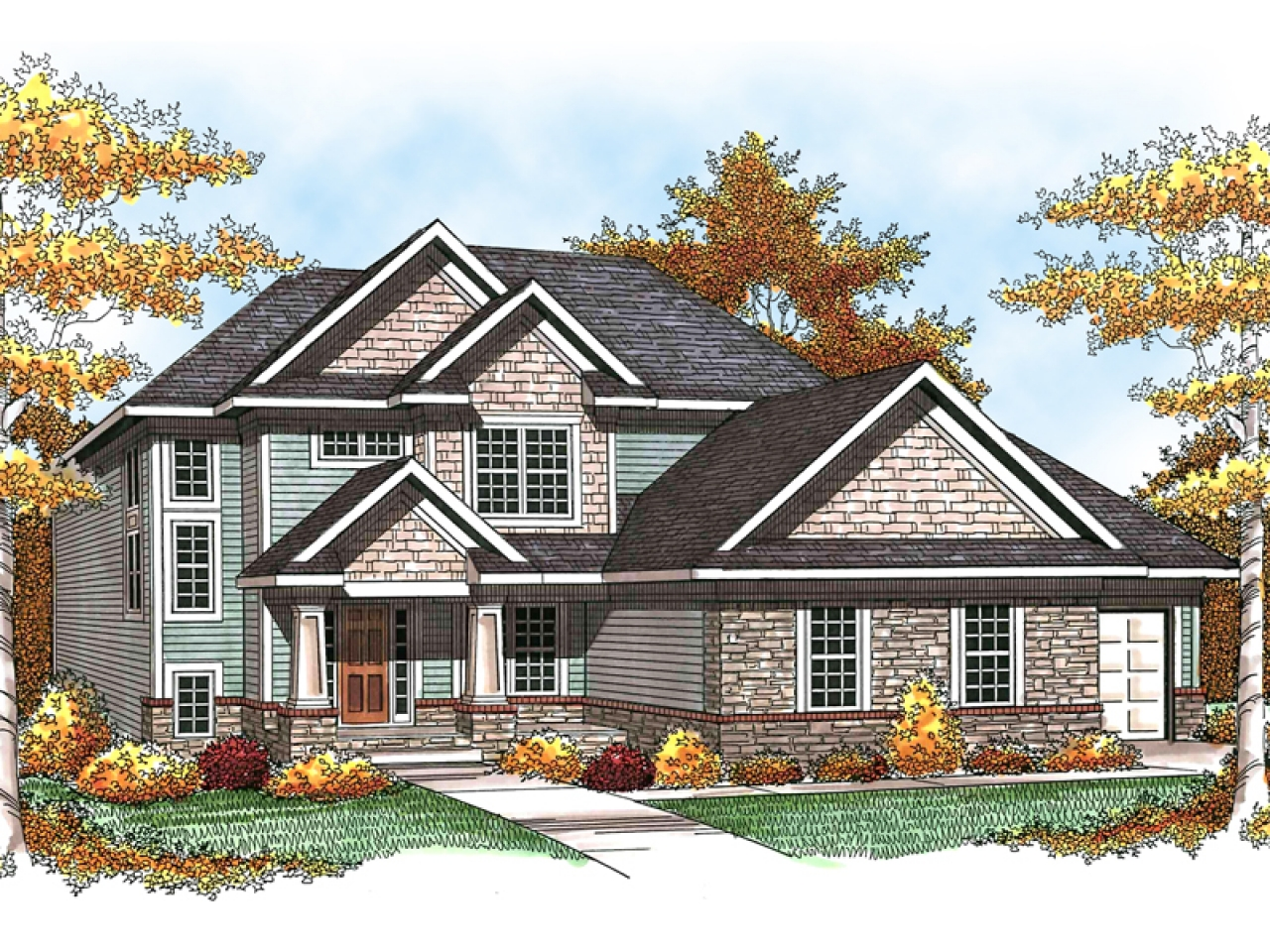 Door And House Color also 115615915409545982 furthermore Exterior Update Help 1960s Yellow Brick Ranch additionally Characteristics Of Modern Farmhouse likewise Lowes Home Exterior Makeover Reveal. on craftsman rambler exterior house colors