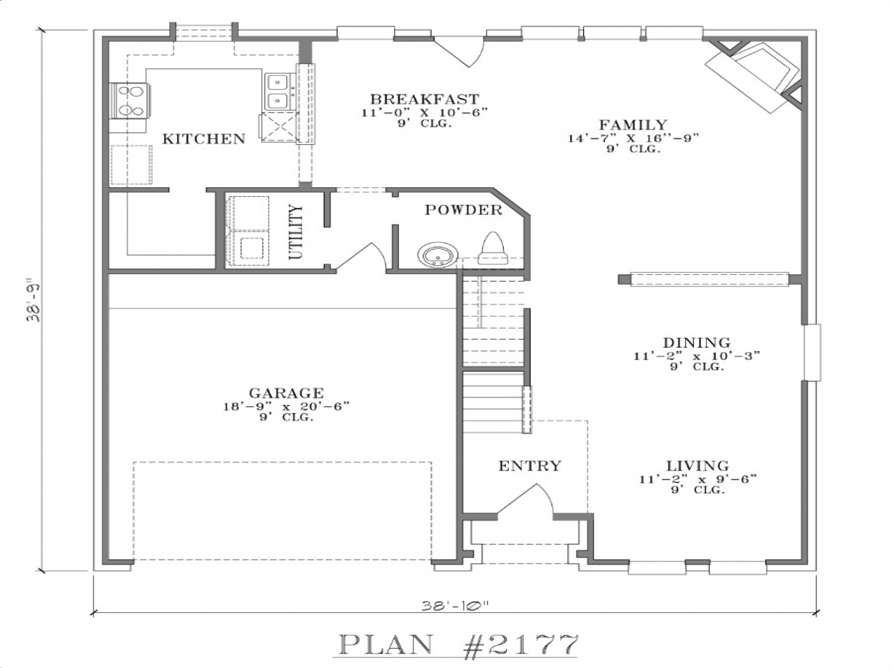 Extremely narrow lot homes narrow lot house floor plans for Southern living narrow lot house plans