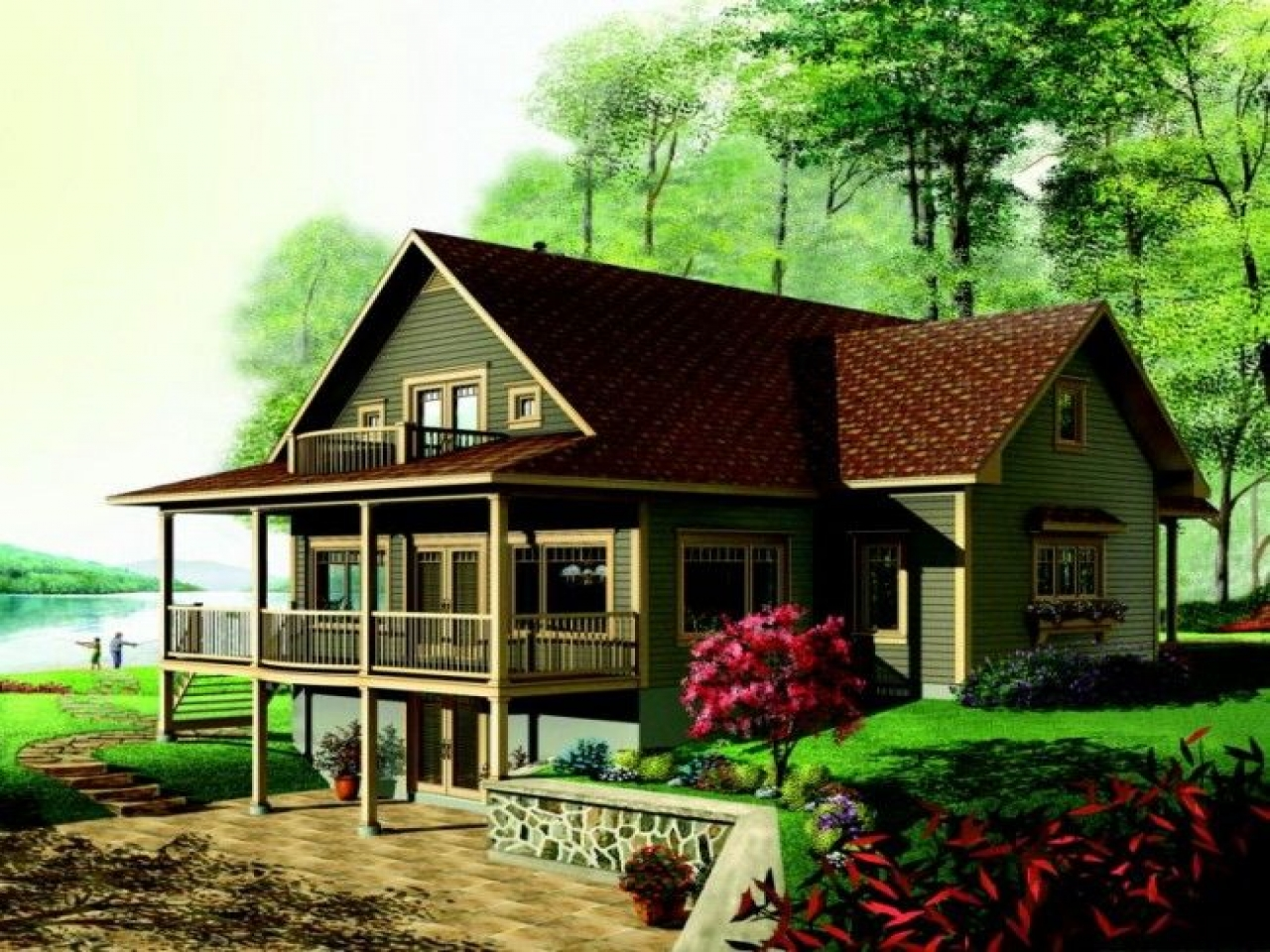 Lake house open floor plans house plan tuesday lake house for House plans ms