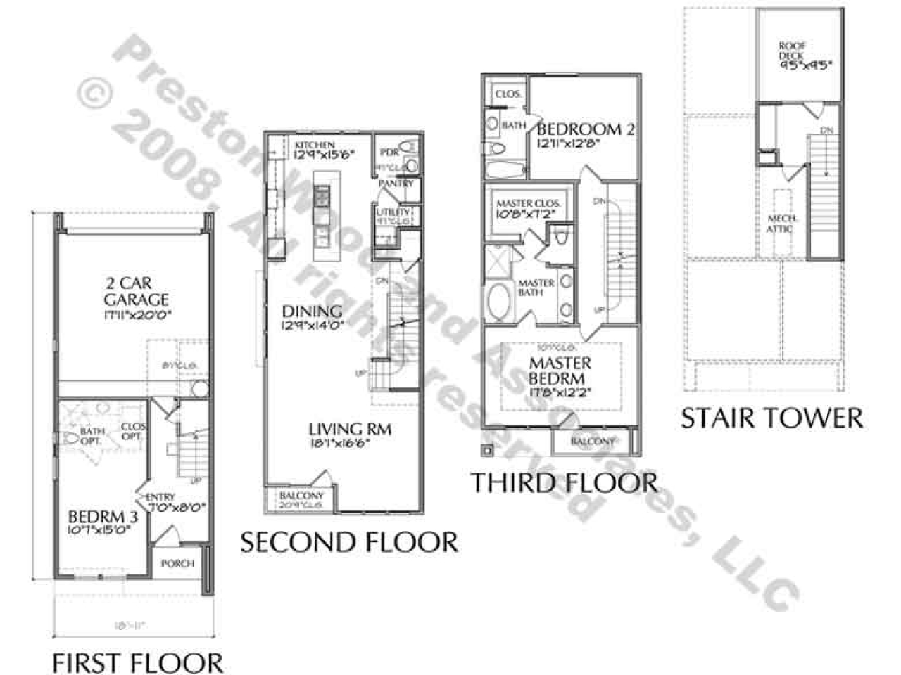 Luxury townhouse floor plans modern townhouse floor plans for Luxury townhouse plans