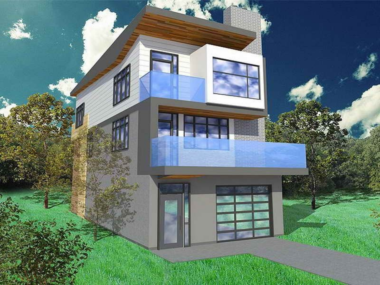 Narrow Lot House Plans With Garage Narrow Lot House Plans