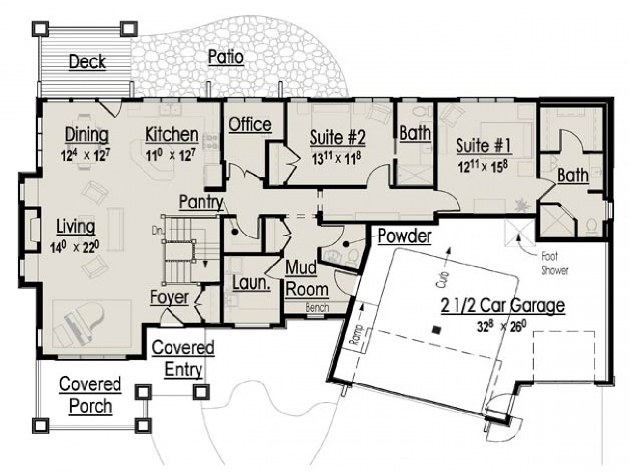 Retirement Home Design Plans Bedroom Floor
