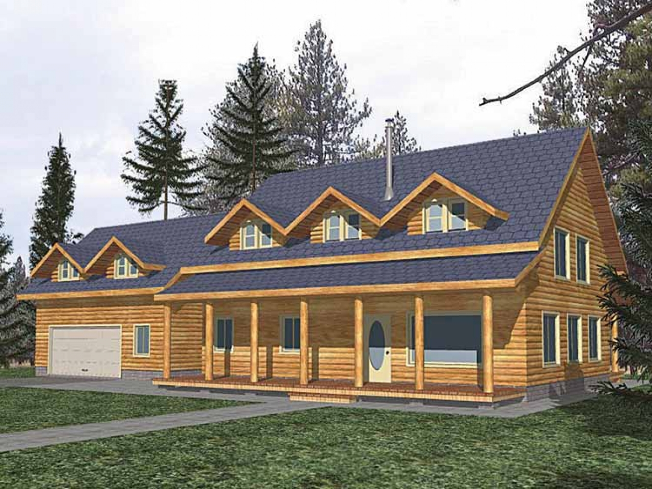 Rustic ranch style house plans rustic houses exterior for Ranch style log home floor plans