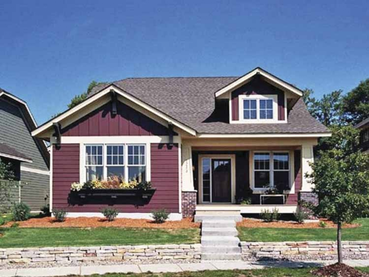 Single Story Bungalow Homes Single Story Craftsman