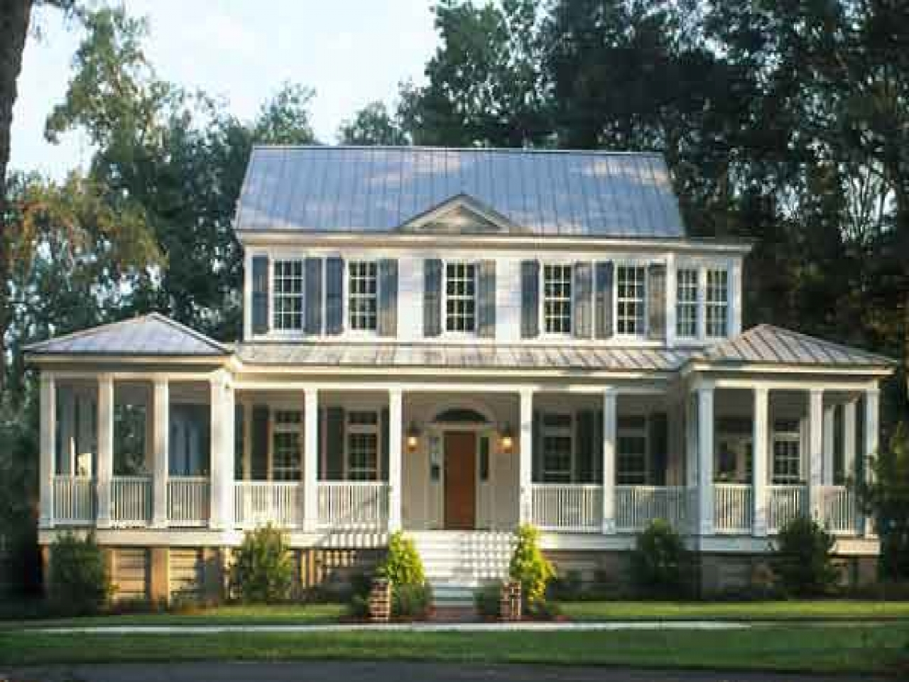 Southern living house plans with porches small house plans for Southern coastal house plans