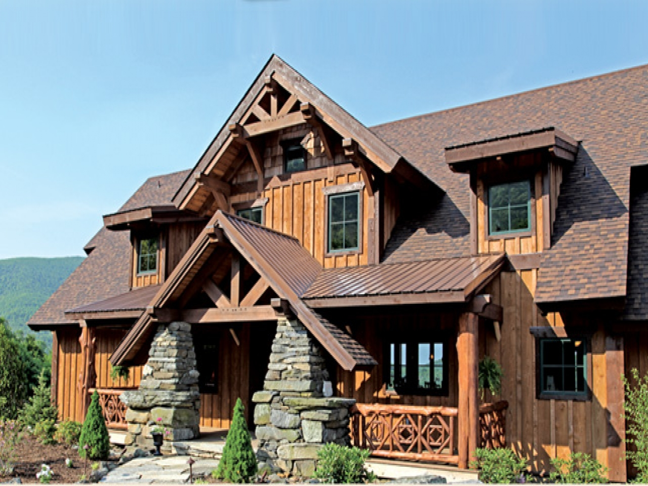 Vista 64 service pack 2 vista lodge 2 story timber frame for Timber frame home plans designs