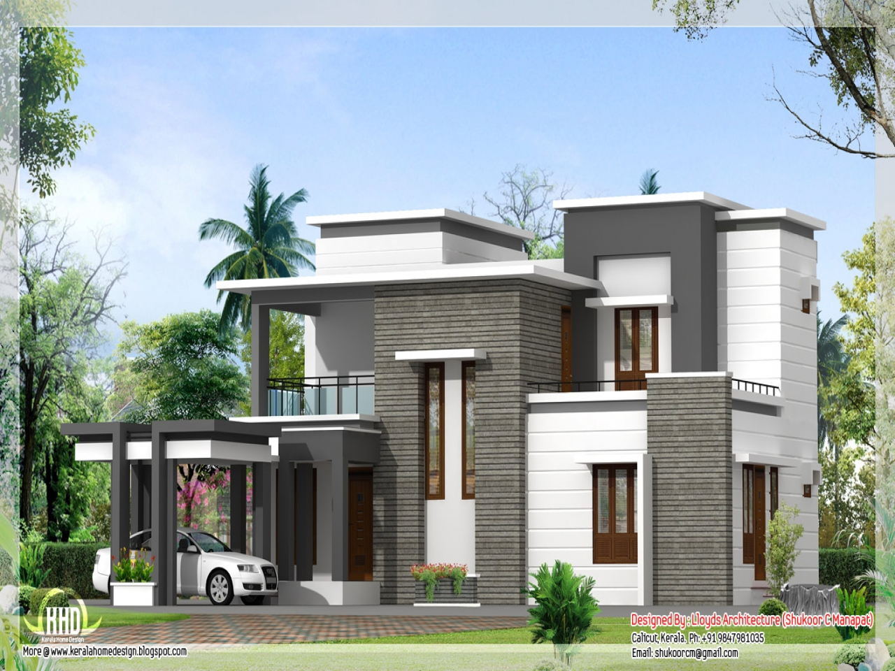 2000 sq feet modern house elevation designs how big is for How big is 2000 square feet