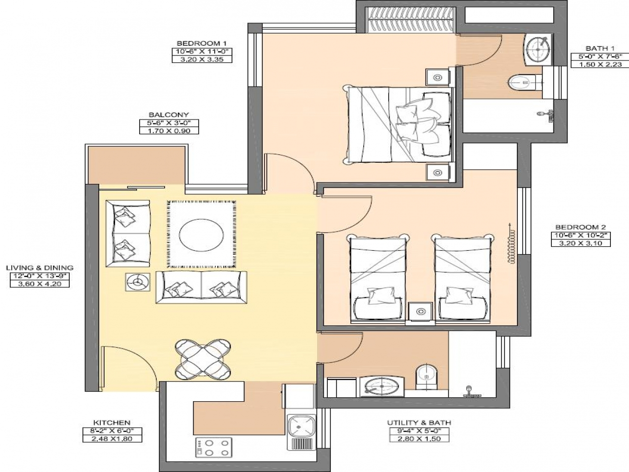750 square feet floor plan 850 sq ft apartment floor plan for 850 sq ft house plans