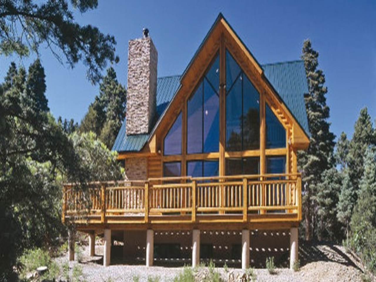 A Frame Log Cabin Home Plans Affordable House Plans A