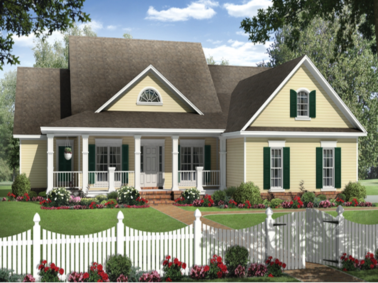 Country house plans with garage country house plans with for One level country house plans