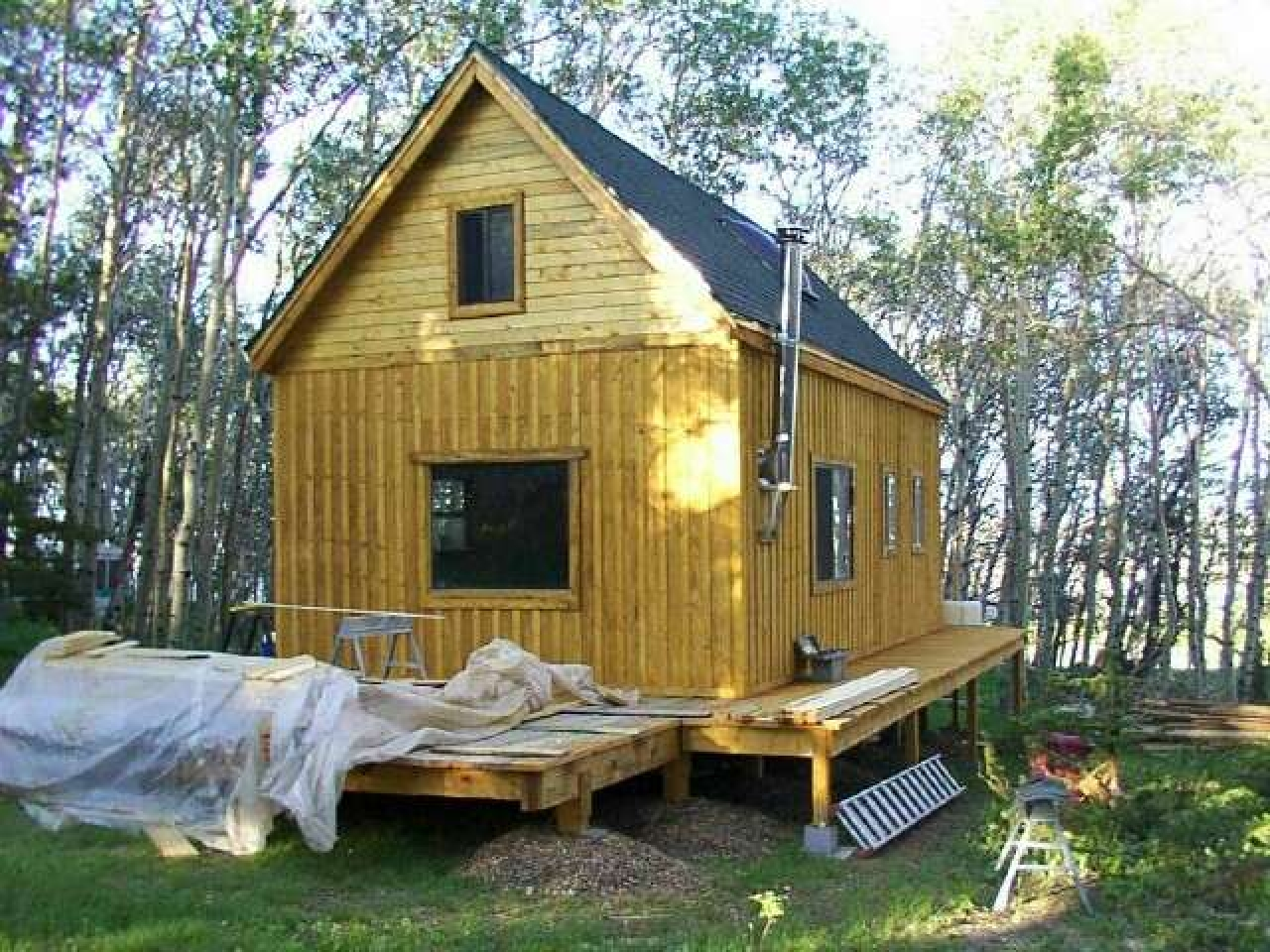 Tiny Cottage House Plans Diy Small Cabin Plans Diy Cabin: Finished Cabins Rent To Own Cabin Plans :: Bunkies, Garden