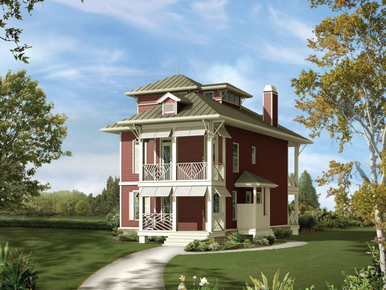 Narrow lot waterfront house plans narrow lot home on water for Home designs for narrow lots