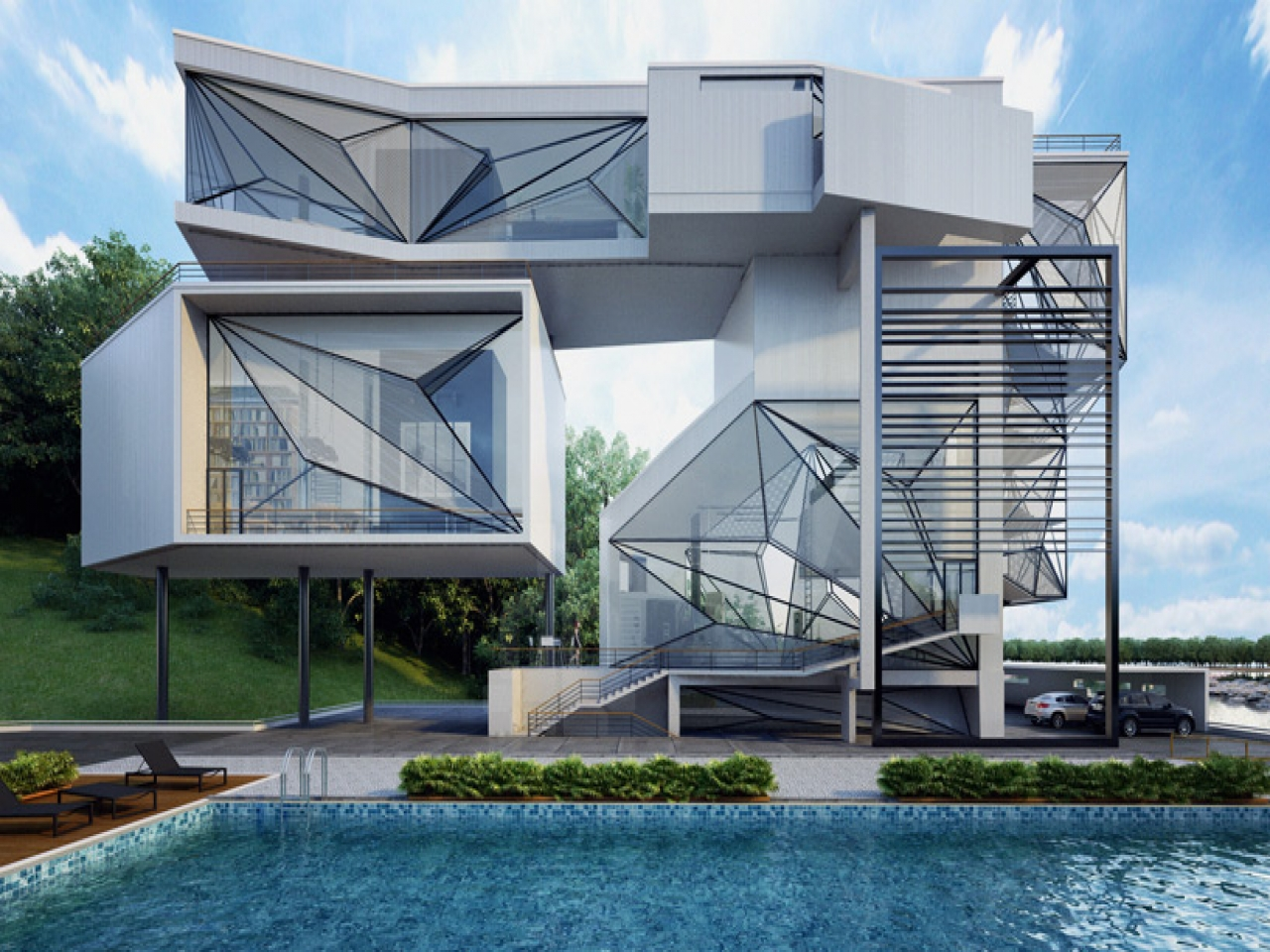 Office Architecture Design Architect Office Lakeside Home