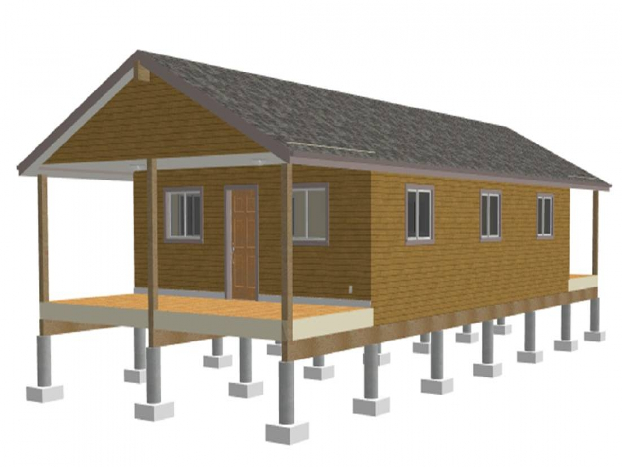 One room cabin plans www one room cabins cabin building for Loft cabin kits